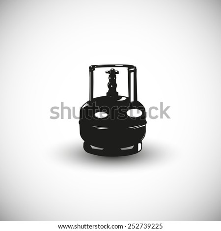Propane balloon illustration - 3d view design. - stock vector