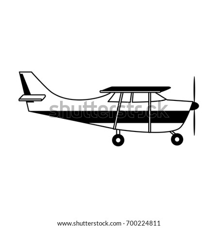 Propeller Airplane Icon Image Stock Vector 700224811 Shutterstock