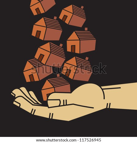 property in hand - stock vector