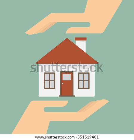 Property Insurance And Security Concept. Business Concept Illustration.