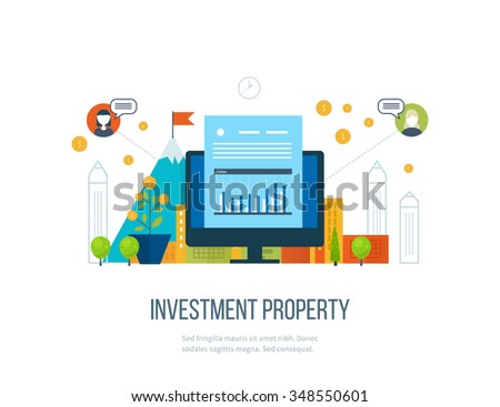 Property investment. Business diagram graph chart. Investment growth. Investment business. Investment management. Financial strategy.  Smart investment, finance, banking, strategic management concept - stock vector