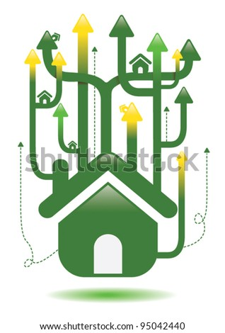 Property price ladder investment housing concept - stock vector
