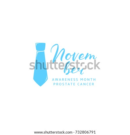 Prostate Cancer Awareness Month Logo Template Stock Vector 732806791