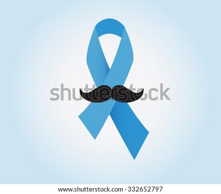 Prostate Cancer Ribbon Awareness On Blue Stockvector 332652797