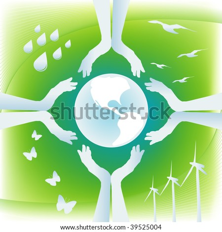 Protect Earth - stock vector