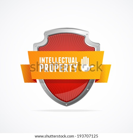 Protect shield on white background. Security Concept - stock vector