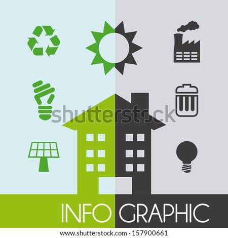 protect the environment over pattern background vector illustration
