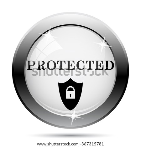 Protected icon. Internet button on white background. EPS10 vector.