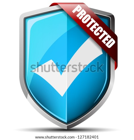 Protected Shield - stock vector