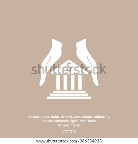 protection and bank vector icon