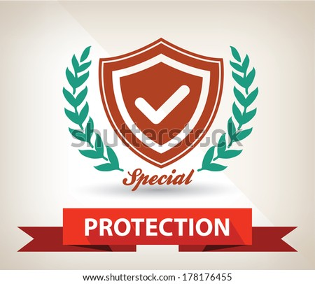Protection badge,vector - stock vector