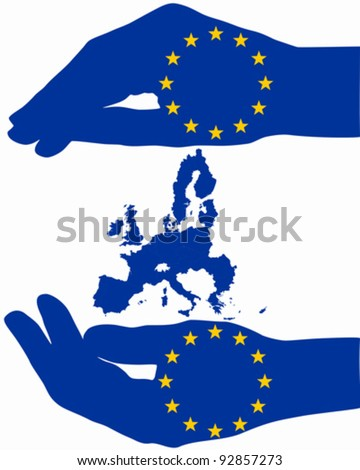 Protection for Europe - stock vector
