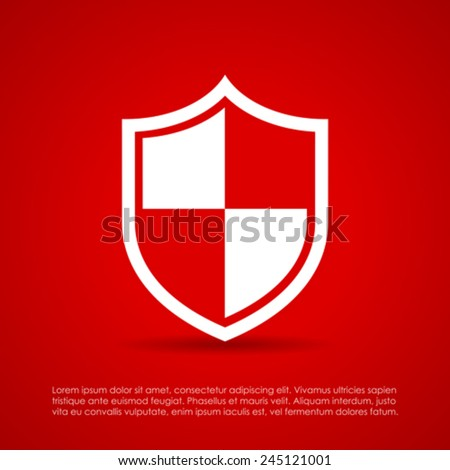 Protection shield icon - stock vector