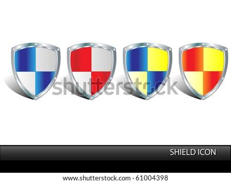 Protection shield.Vector - stock vector