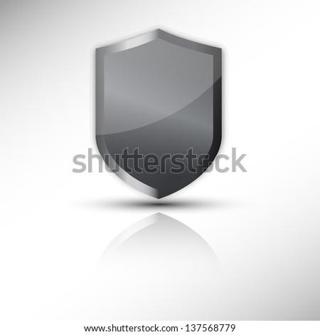 protection shield vector icon - stock vector