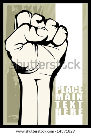 Protest fist - stock vector