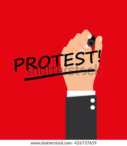 Protest signs - stock vector