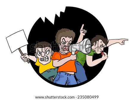 Protest symbol - stock vector