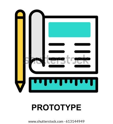 Prototype Line Vector Icon Stock Vector 614883545 ...  Prototype Line ...