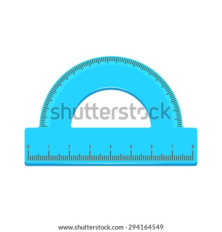 Protractor. Isolated icon pictogram.  - stock vector