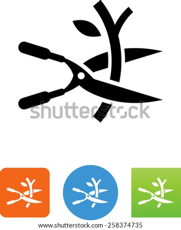 Pruning shears symbol for download. Vector icons for video, mobile apps, Web sites and print projects.  - stock vector