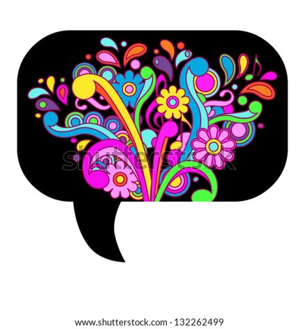 Psychedelic callout, eps10 vector - stock vector