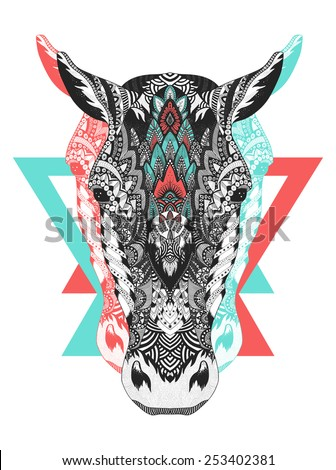 psychedelic horse illustration