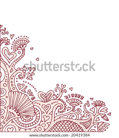 Psychedelic Love Doodles! These look awesome in transparency over a photo.