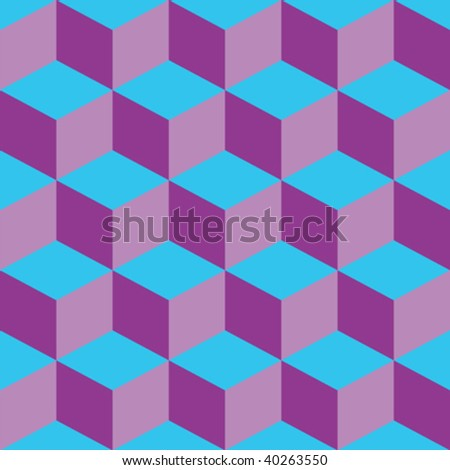 psychedelic pattern mixed purple and blue, vector art illustration - stock vector