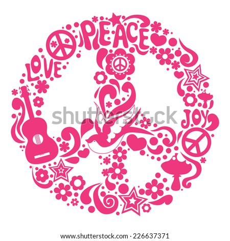 Psychedelic sign Illustration - stock vector