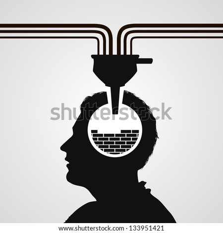 psychology - stock vector