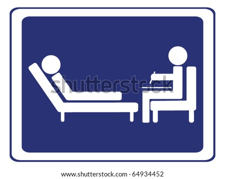 psychology session sign vector - stock vector