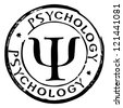 psychology stamp - stock photo