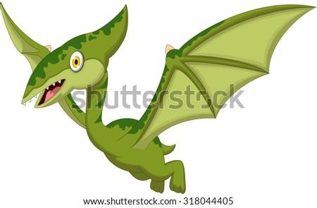 pterodactyl cartoon for you design - stock vector
