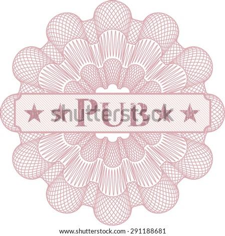 Pub linear rosette - stock vector