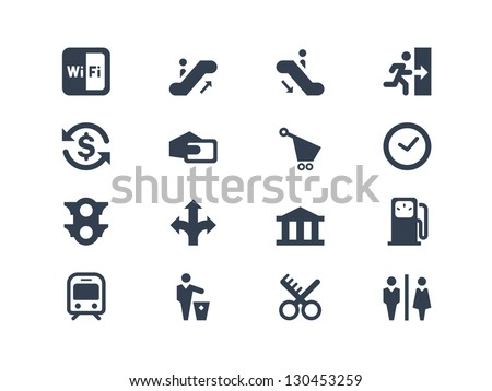 Public icons - stock vector