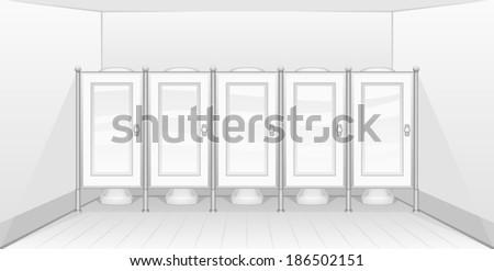Public lavatory - stock vector