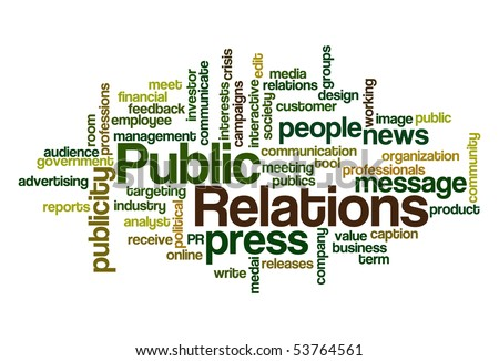 Public Relations - Word Cloud - stock vector