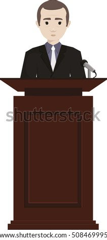 Public Speaker - Vector Illustration