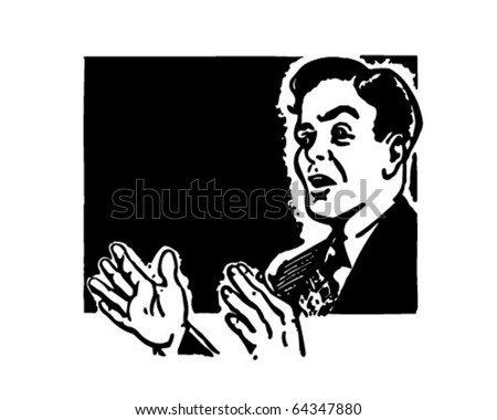 Public Speaking - Retro Clipart Illustration