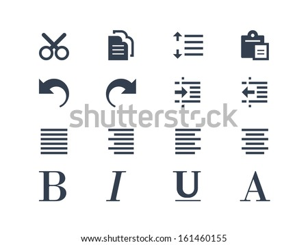 Publishing and text editing icons - stock vector