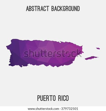 Puerto Rico map in geometric polygonal style.Abstract tessellation,modern design background. Vector illustration EPS8 - stock vector