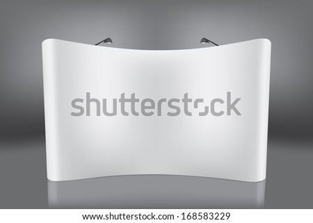 Pull frame blank space for your advertising, illustration vector template design. - stock vector