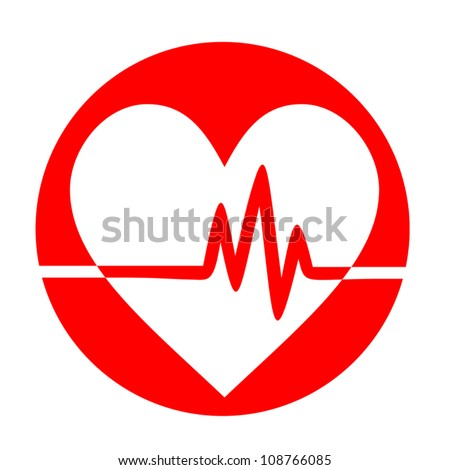 Pulse love - stock vector