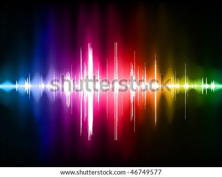 Pulse Wave Background Original Vector Illustration - stock vector