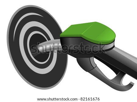 Pumping fuel in to the tank - stock vector