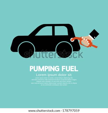 Pumping Fuel Vector Illustration - stock vector