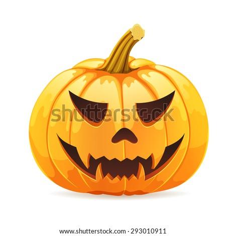 Scary Jack O Lantern Stock Vector 82557346 Shutterstock
