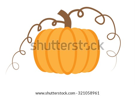 Pumpkin background  - stock vector