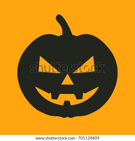 Pumpkin face stock images royalty free images vectors for Surprised pumpkin face